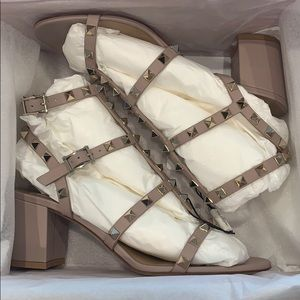 Valentino Rockstud Caged Sandal